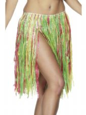 Luau Hawaiian Multi-Colour Hula Skirt